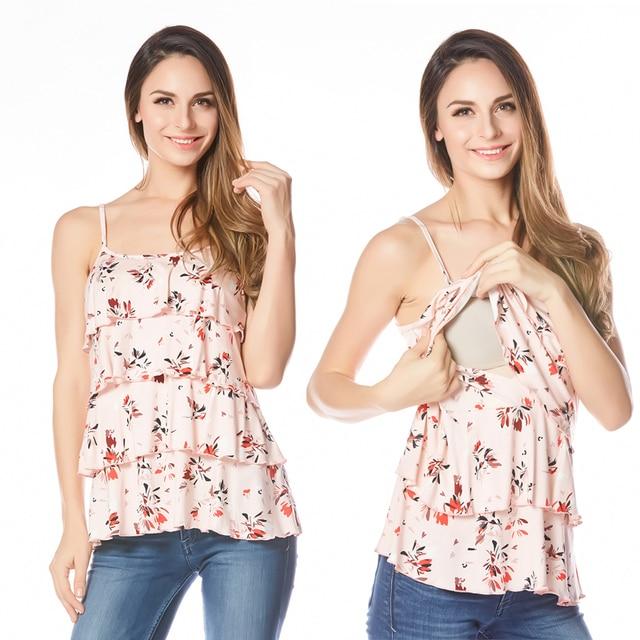 Одежда для беременных кормящих топ Лето Танк Тис для Беременных Женщин 2016 Новый Грудное Вскармливание Беременность Одежда