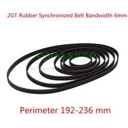 10 шт цикл 236 мм GT2 замкнутая петля синхронизация резиновый ремень 2GT 6 мм 3D принтер части синхронизации пояса
