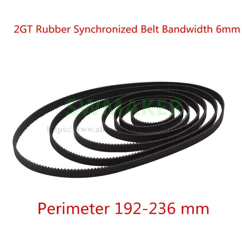 400pcs Cycle 236mm GT2 Closed-loop Synchronization Belt Rubber 2GT 6mm 3D Printer Parts Synchronization Belt Parts