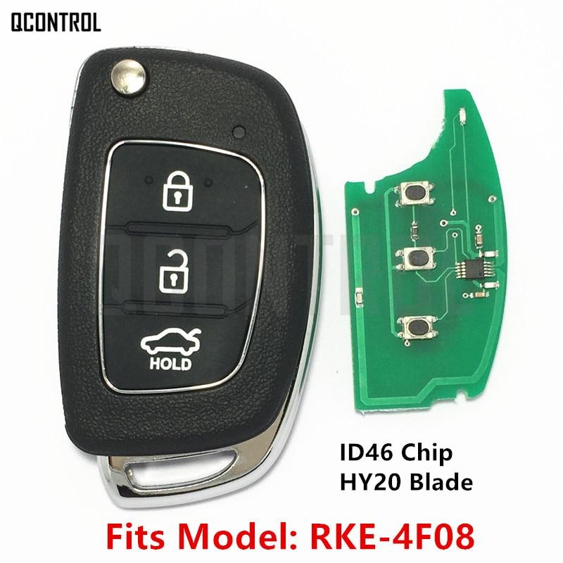 QCONTROL Keyless Entry Car Remote Key Suit for HYUNDAI SOLARIS RKE-4F08 2015 2016 2017