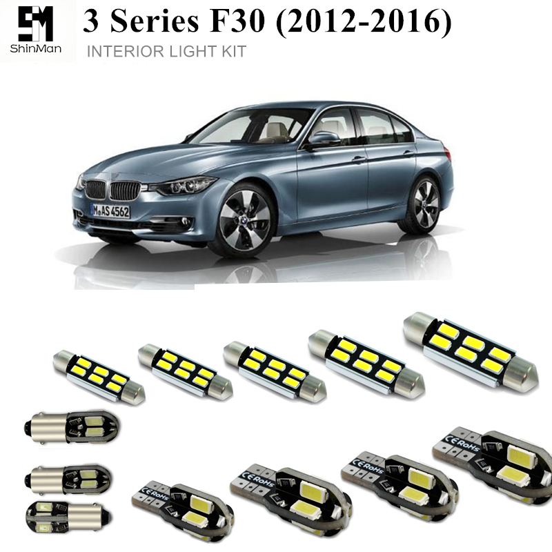 Shinman 16pcs Error Free LED Interior Light Kit For BMW 3