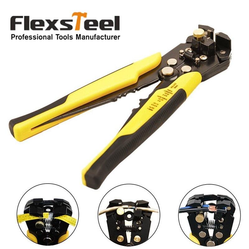 Flexsteel Automatique Pince À Dénuder Électrique Câble Fil Décapage Sertissage Outils De Coupe Multi Outil Pince pour L'industrie 10-24AWG