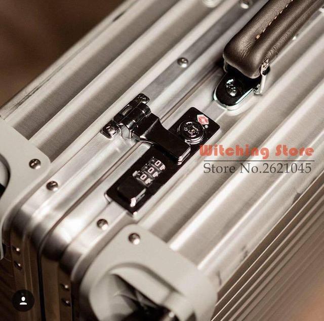 24 PULGADAS 20242629 # La nueva marea días varilla de aluminio del marco caja y rueda universal de equipaje 20 maleta de viaje # EC ENVÍO GRATIS