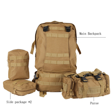 Waterproof Molle 3D High qualitNylon Assault Army Military Tactical Rucksacks Outdoor Backpack Travel Camping Hiking