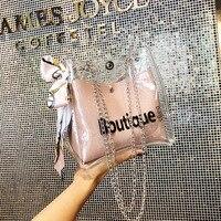Для женщин прозрачная сумка-мешок на высоком каблуке; Модные прозрачные Для женщин, женская сумка, сумка на плечо, Повседневное покупок шарф...