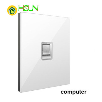 86 Type White Tempered glass Switch 1 2 3 4 gang 1 2 way Lizard Point Switch Comuter TV Telephone Socket Household Wall Switch 8