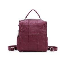 Новинка 2017 сумка женский корейский рюкзак женские Магнитная застежка рисовать с Мода ретро сумка