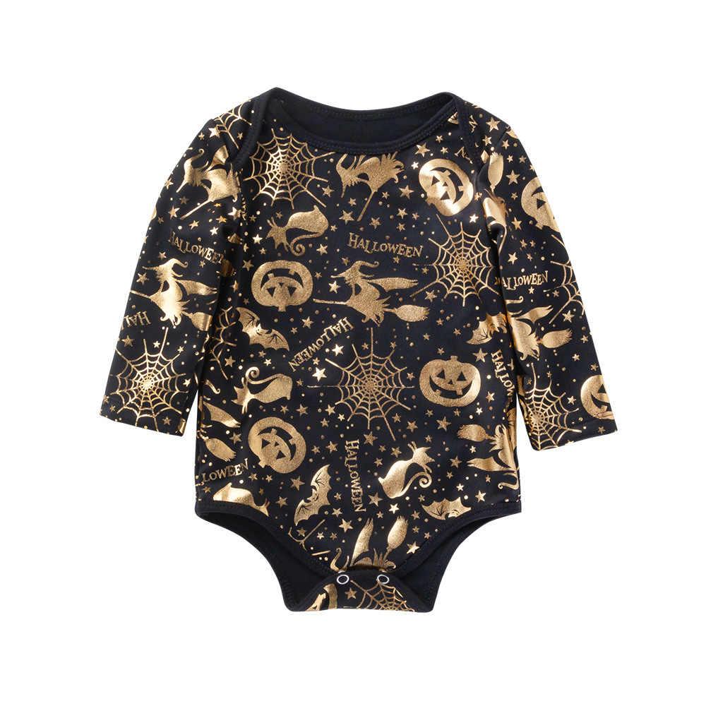 Детская одежда черные детские комбинезоны на Хэллоуин из хлопка с рисунком Bebek Tulum Body для новорожденных infantil одежда детская одежда