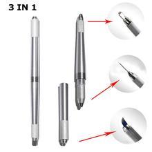3 In 1 Professional Eyebrow Tattoo Pen Tebori Microblading Pen For Permanent