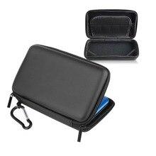 Cool Black EVA Pele Carry Hard Case Bag Bolsa Para Nintendo 3DS LL Sacos de Viagem de Armazenamento Bolsa de Transporte Para Nintendo 3DS LL
