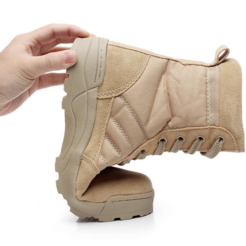 Qualidade Homens Deserto Especial Trabalho Couro Sapatos Barcos black Botas Neve Combate Inverno Tornozelo Beige 109 Força De Outono Militares Tático Exército 4f5qIxw