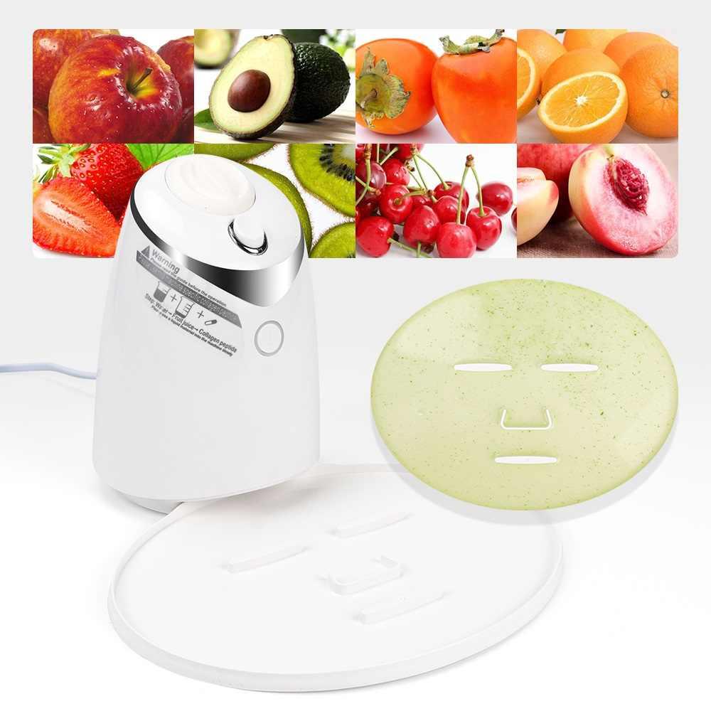 Viso Mask Maker Macchina Trattamento Viso FAI DA TE di Frutta Automatico Vegetale Naturale di Collagene Uso Domestico Salone di Bellezza SPA Cura Eng Voce