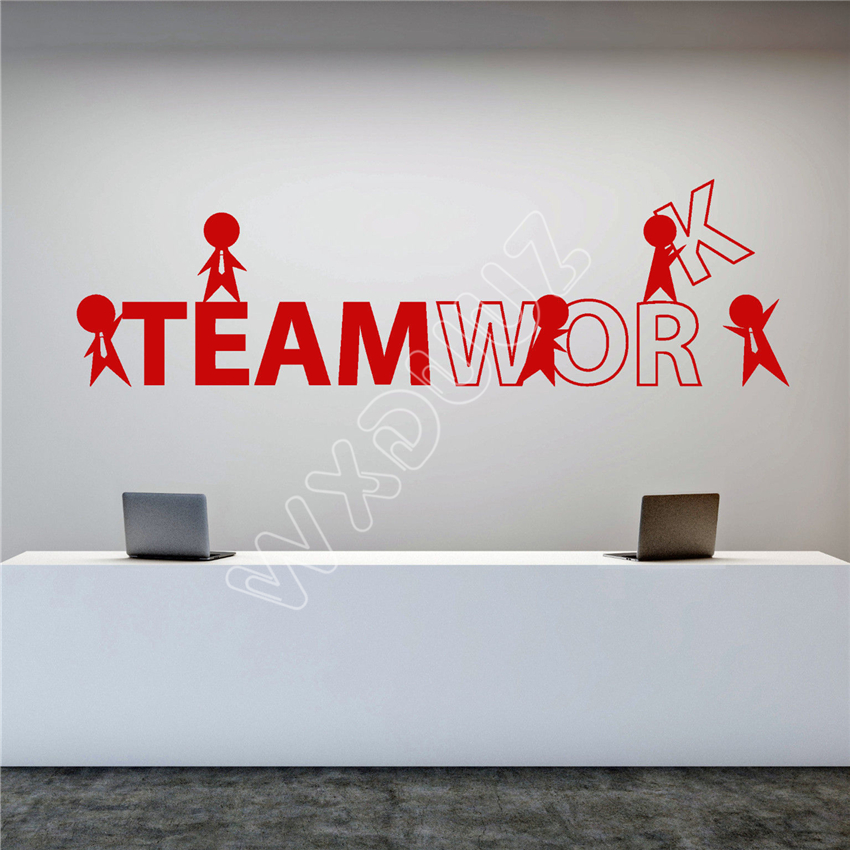 WXDUUZ Vinyl Wall Decal Office Worker Style Teamwork Cartoon People Stickers Wall Sticker Home Decorv B177