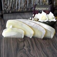 Peigne en corne de Grain naturel, sac de Massage Portable multi-taille, peigne demi-lune, cheveux lisses, 1 pièce, G0425