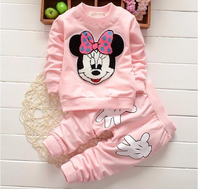 Chcdmp Minnie Maus Kleidung Set Kinder Baby Outfits Frühling Baby
