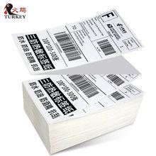 Прямая Тепловая этикетка наклейка 100 мм x 150 мм(500 этикеток), Fan-fold, Amazon ebay 4x6 Тепловая Транспортировочная этикетка