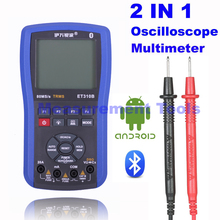 M132 ET310B 2 in 1 Wireless bluetooth scope meter 20MHz handheld oscilloscope + True RMS digital multimeter Better Than ET201