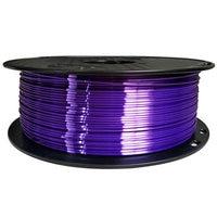 3D Printer Filamen PLA Seperti Sutra 1.75 Mm 0.1Kg/1Kg Seperti Sutra Tekstur Bahan Bahan Kawat ungu Bahan Habis Pakai