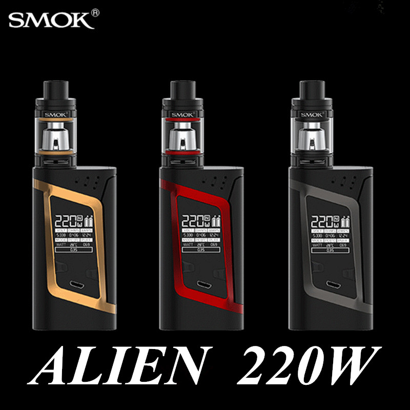 Vape Electronic Cigarette SMOK Alien Vaporizer Box Mod E Cigarette Hookah VS Eleaf iStick Pico Kit Buy Kit Get 1 Coil free S207 original smok g150 tc box mod with 4200mah battery g150 mod vs smok alien vaporizer e cigarette vape kit