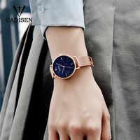CADISEN-relojes dorados para mujer, de cuarzo, ultrafino, elegante, con caja, 2018