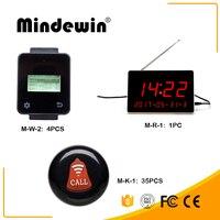 Mindewin новый ресторан Беспроводной выбора цифровой дисплей M R 1 1 шт. + 4 шт. M W 2 Многофункциональный сенсорный часы + 35 шт. m K 1 ключа