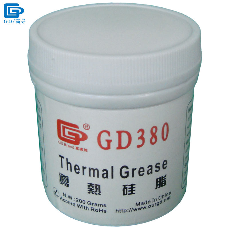 GD380 Thermal Conductive Grease Paste Silicone Plaster Heatsink Compound Net Weight 200 Grams Bottle Packaging For LED CPU CN200 30g grey silicone compound thermal conductive needle grease paste heatsink for cpu gpu led cooling component glue thermal pastes