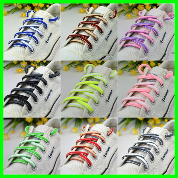 Cute Oval Shoelace Triathlon Elastic Laces Cavans Leisure Shoes Lacet Polyester Sneaker Sports Shoe Laces 5 Pairs semi circle multicolour shoelace two tones cavans shoe laces elastic men s shoes lacet 110cm length 10 pairs on sale