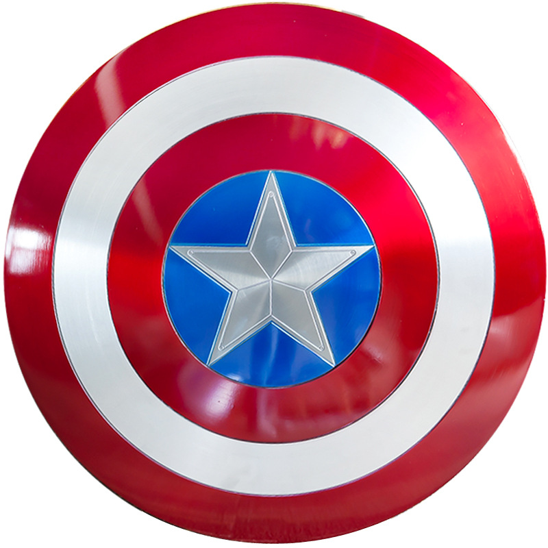 1:1 Captain America Metal Shield 57cm Captain Shield Cosplay Prop Party toy Bars Decoration