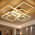 Rectangle Acrylic Aluminum Modern Led ceiling lights for living room bedroom AC85-265V New White modern Ceiling Lamp Fixtures