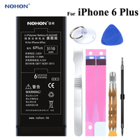 NOHON Battery 3110mAh For Apple iPhone 6 Plus 6P 6Plus High Real Capacity Built in Phone Li polymer Batteries With Tools+Package