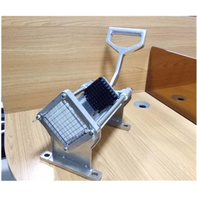 Acier inoxydable manuel Machine de découpe accessoires de cuisine Chopper coupe pommes de terre Chips pomme de terre bande Machine radis concombre - 4