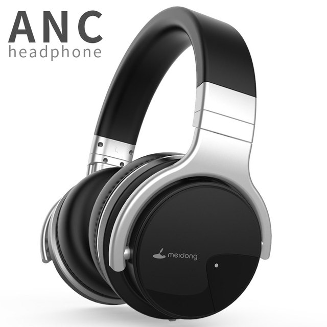 7a58eae537f Original Meidong E7B Active Noise Cancelling Bluetooth Headphones Over ear  Deep bass Wireless Headset with microphone