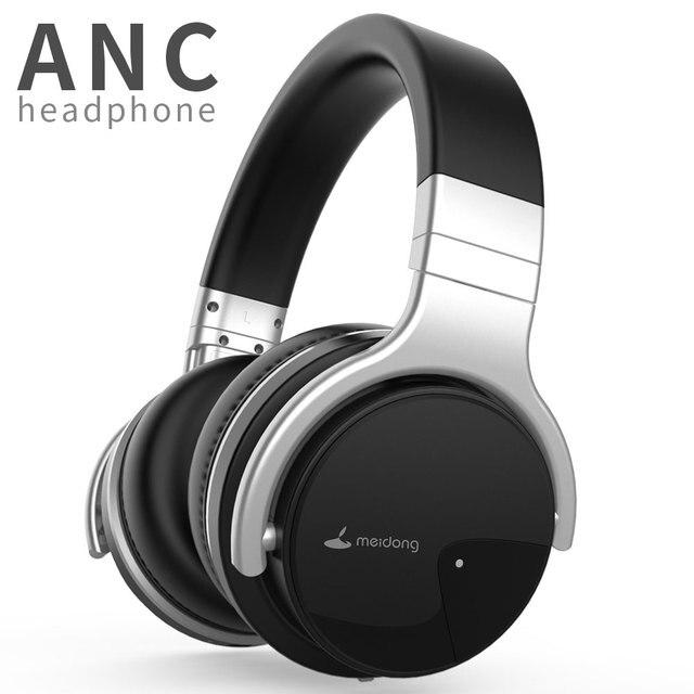 Original Meidong E7B activa de ruido cancelación de auriculares Bluetooth de oído Deep bass inalámbrica auriculares con micrófono para teléfono