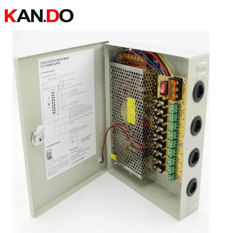 9 channels DC12V 10A CCTV Camera Power Box IR Illuminator Control for DVR CCTV Cameras switching Power Supply Box 9CH Port 10A