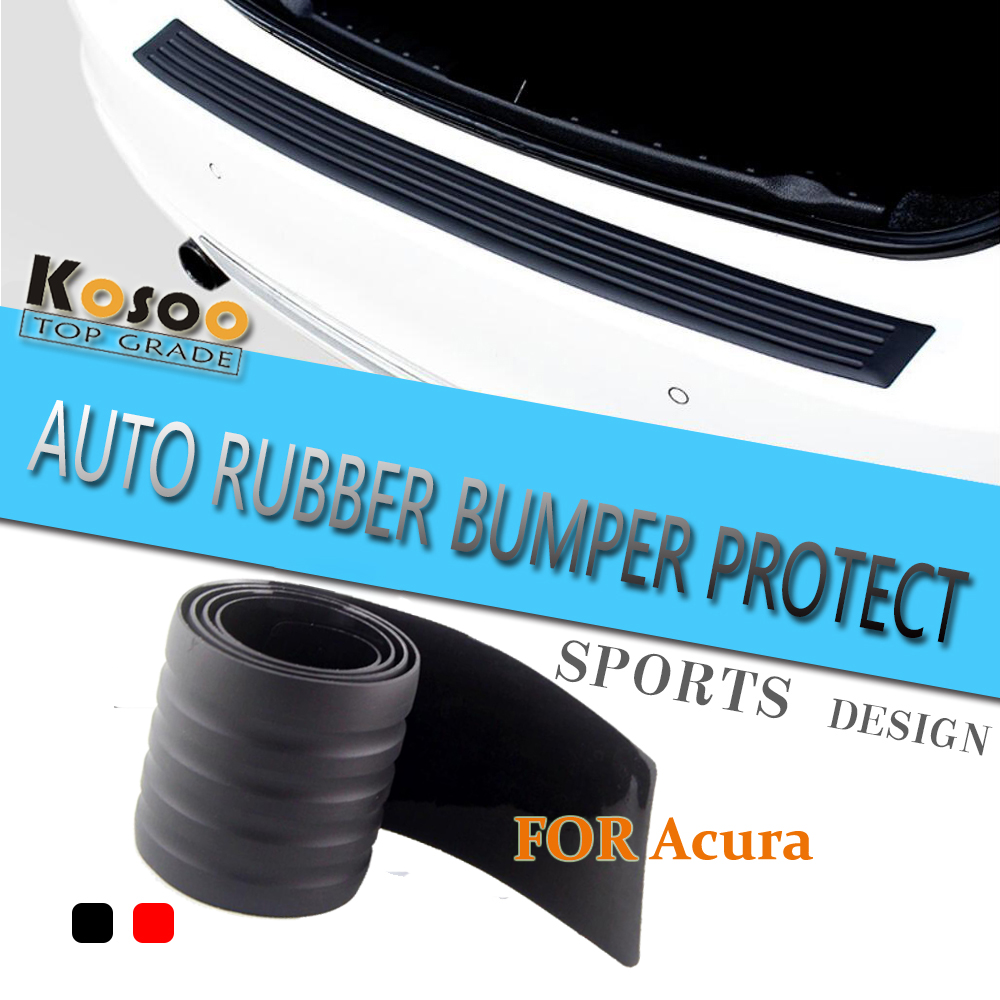 Rubber floor mats acura rdx - Kosoo For Acura Rdx Mdx Tl Rsx Dc5 Tsx Cl9 Rubber Rear Guard Bumper Protect Trim