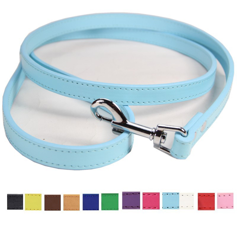 size S#1.5*120cm,M#2.0*120cm PU Leather Dog Strong Leashes Pet Walking Lead Chihuahua French Bulldog Boxer Terrier