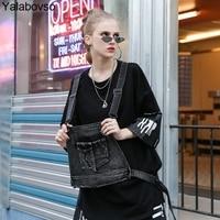High Street Streetwear O neck 2pieces Half Sleeve Tees Cotton T Shirt Irregular Batwing Sleeve Tops for woman Yalabovso Z30