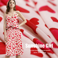 High grade silk crepe de chine fabric 12mm summer pink love silk dress apparel fabric wholesale silk cloth 135cm