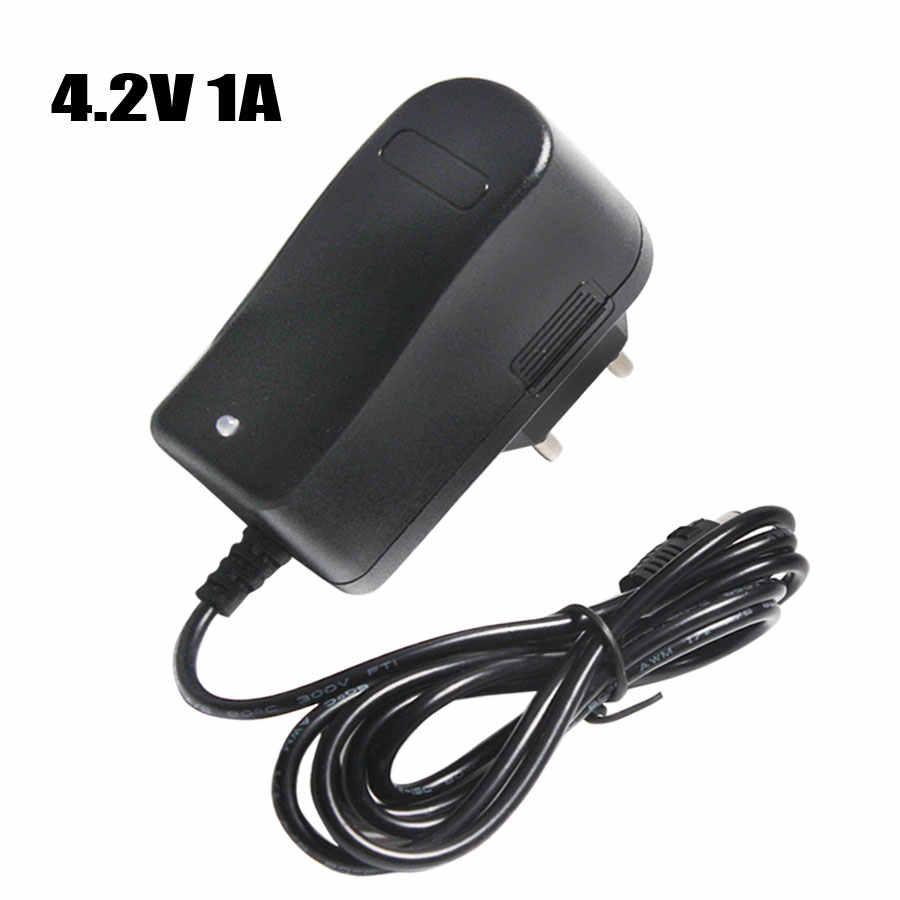 18650 В в 1A 4,2 литиевая батарея зарядное устройство DC 5,5 мм * мм 2,1 мм EU/AU/US/UK штекер 110 В-220 В для 18650 полимерная литиевая батарея