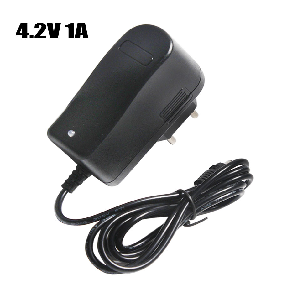4.2V 1A 18650 Lithium Battery Charger DC 5.5MM*2.1MM EU/AU/US/UK Plug 110-220V For 18650 Polymer Lithium Battery