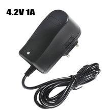 4.2V 1A 18650 Lithium Battery Charger DC 5.5MM*2.1MM EU/AU/US/UK Plug 110 220V For 18650 Polymer Lithium Battery