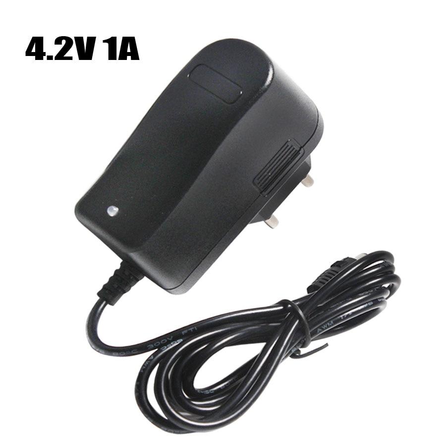 4.2V 1A 18650 Lithium Battery Charger DC 5.5MM*2.1MM EU/AU/US/UK Plug 110-220V For 18650 Polymer Lithium Battery