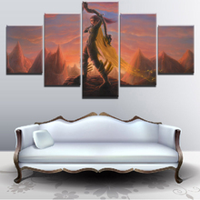 Modern Decor 5 Pieces Paintings on Canvas Wall Art for Home Decorations DOTA 2 Game For Living Room