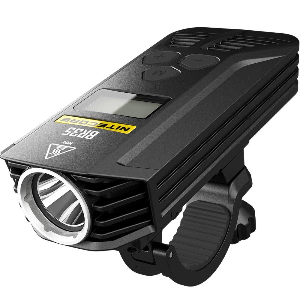2018 Nouveau Nitecore BR35 1800 Lumens 2 3xcree XM-L2 U2 Intégré 6800 mAh Batterie Pack Double Distance Faisceau Rechargeable Vélo lumière