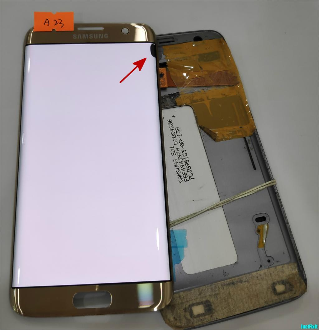 NO A23 for Samsung Galaxy S7 edge G935F G935A G935FD Defect lcd display with touch screen