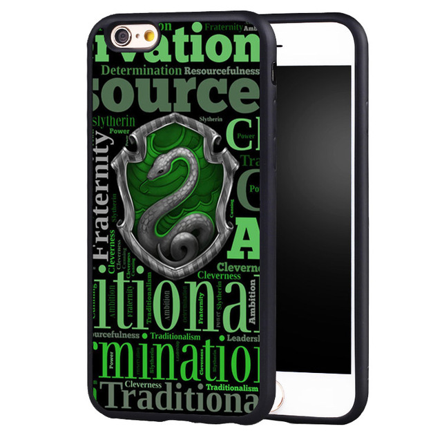 on sale 50032 c6f4c US $4.99 |2017 New Arrival harry potter hogwarts slytherin Cover Case For  iPhone 5 5C 5S SE 6 6plus 6S 7 Plus-in Fitted Cases from Cellphones & ...