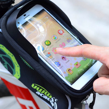 New Mountain bike Bag 4.8″/5.5″Inch Bicycle Cycling Frame Tube Panniers Waterproof Touchscreen Phone Case Reflective Saddle Bags