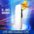 2 KM WI-FI Extensor de Alcance Sem Fio WI-FI WI-FI Repetidor 5.8G 300 Mbps Roteador CPE WiFi Ponte de Ponto de Acesso Ao Ar Livre Router AP 1000 mW
