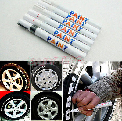 Waterproof Rubber Permanent Paint Marker Pen Car Tyre Tread Environmental Tire Painting 8 colors White diy tire marker paint pen for auto car motorcycle white green