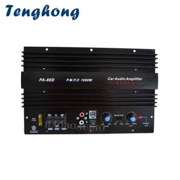Tenghong High Power Car Subwoofer Amplifier Board 12V 1000W Power Amplifier Bass Sound Amplificador For Car Audio Speaker System sound speaker switcher amplifier audio converter for 1 amplifier 2 speaker or 2 amplifier 1 speaker
